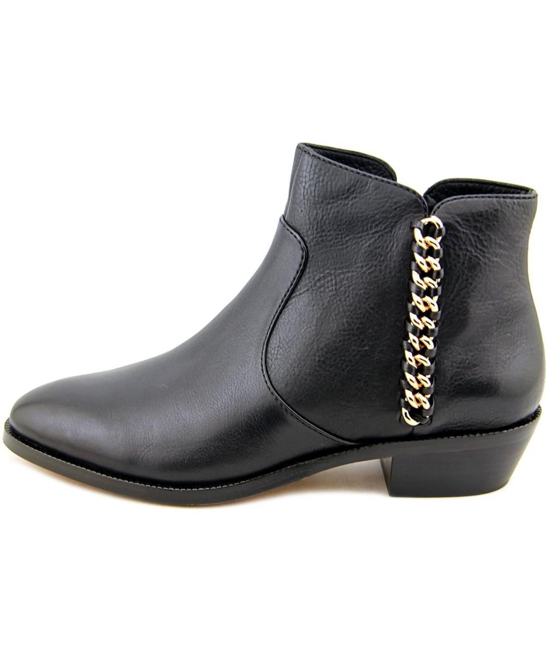 coach corine toe leather ankle boot in black lyst