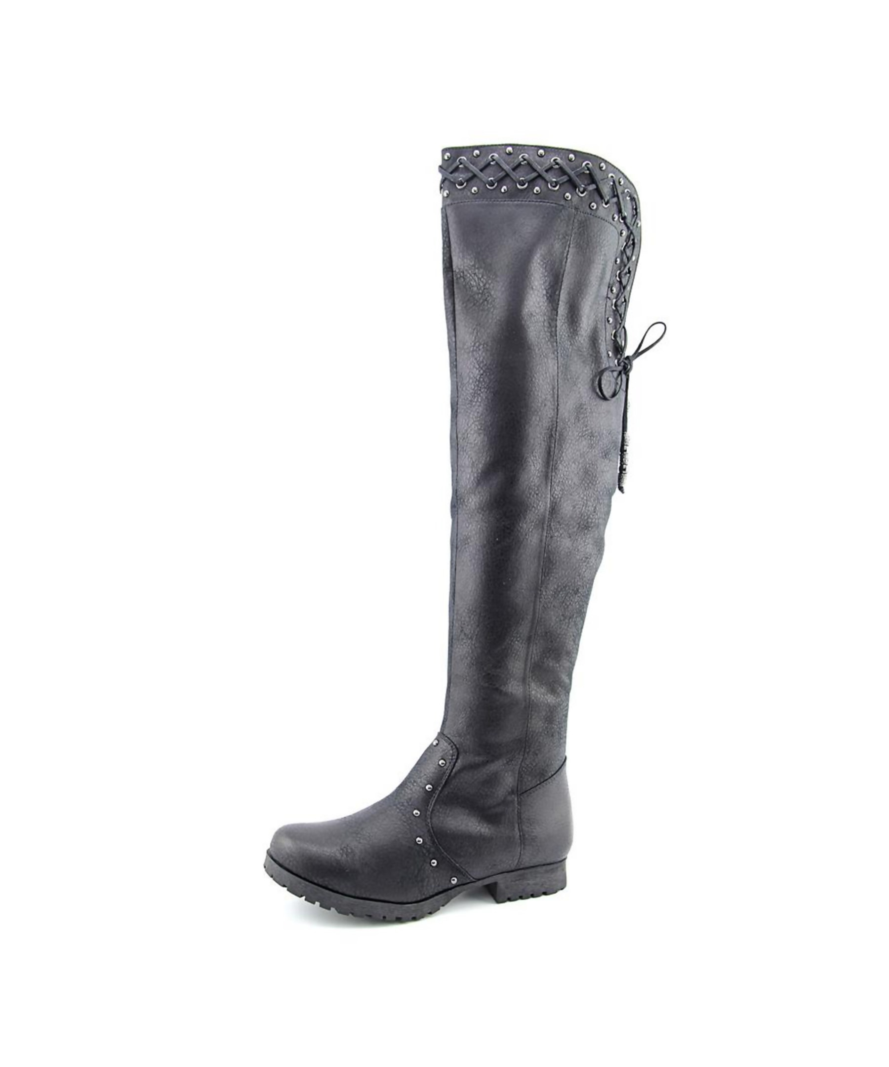 f589c1e20ac Lyst - Not Rated Monroe Women Us 10 Black Knee High Boot Uk 8 Eu 42 ...