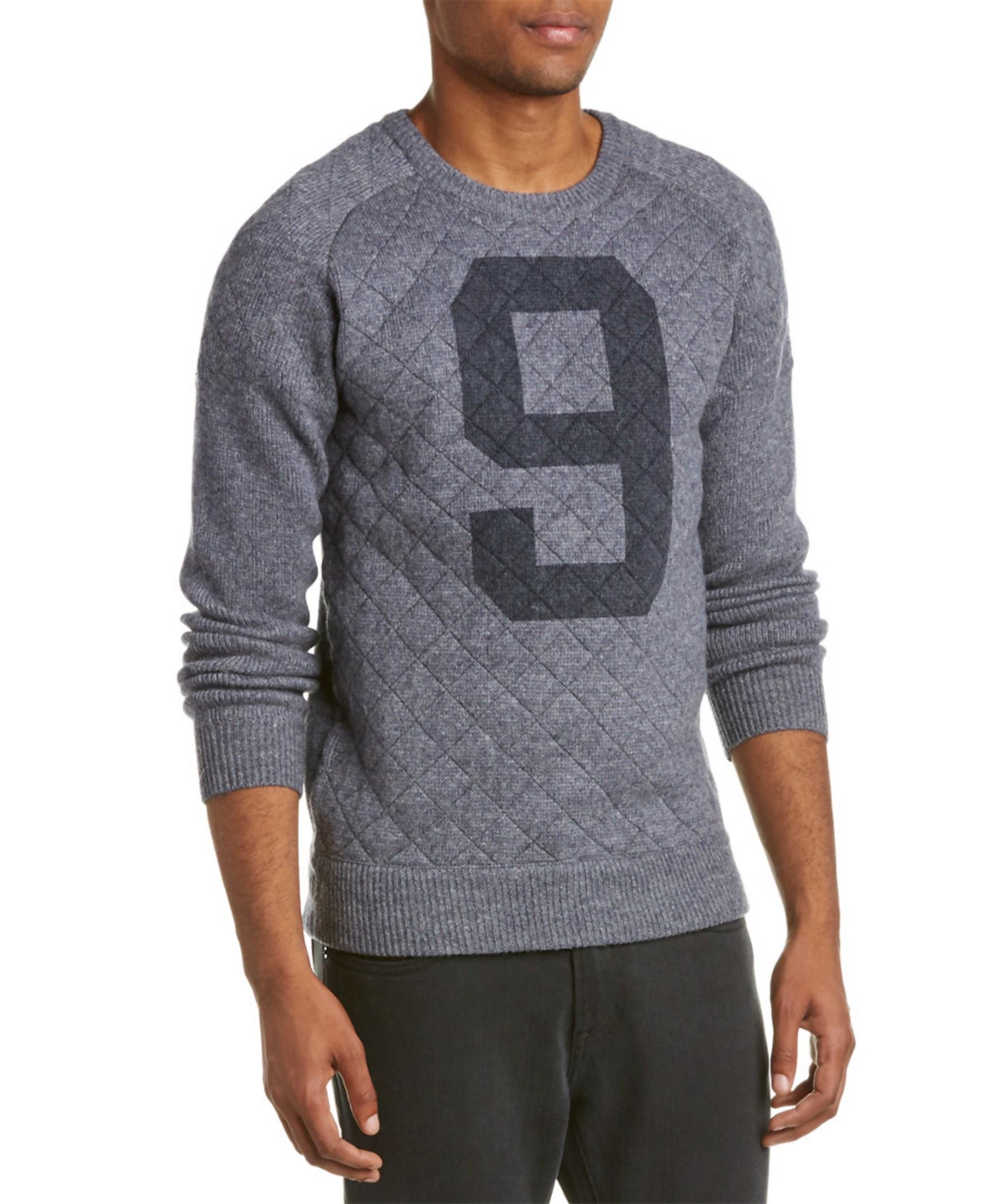 scotch soda wool blend crewneck pullover in gray for men. Black Bedroom Furniture Sets. Home Design Ideas