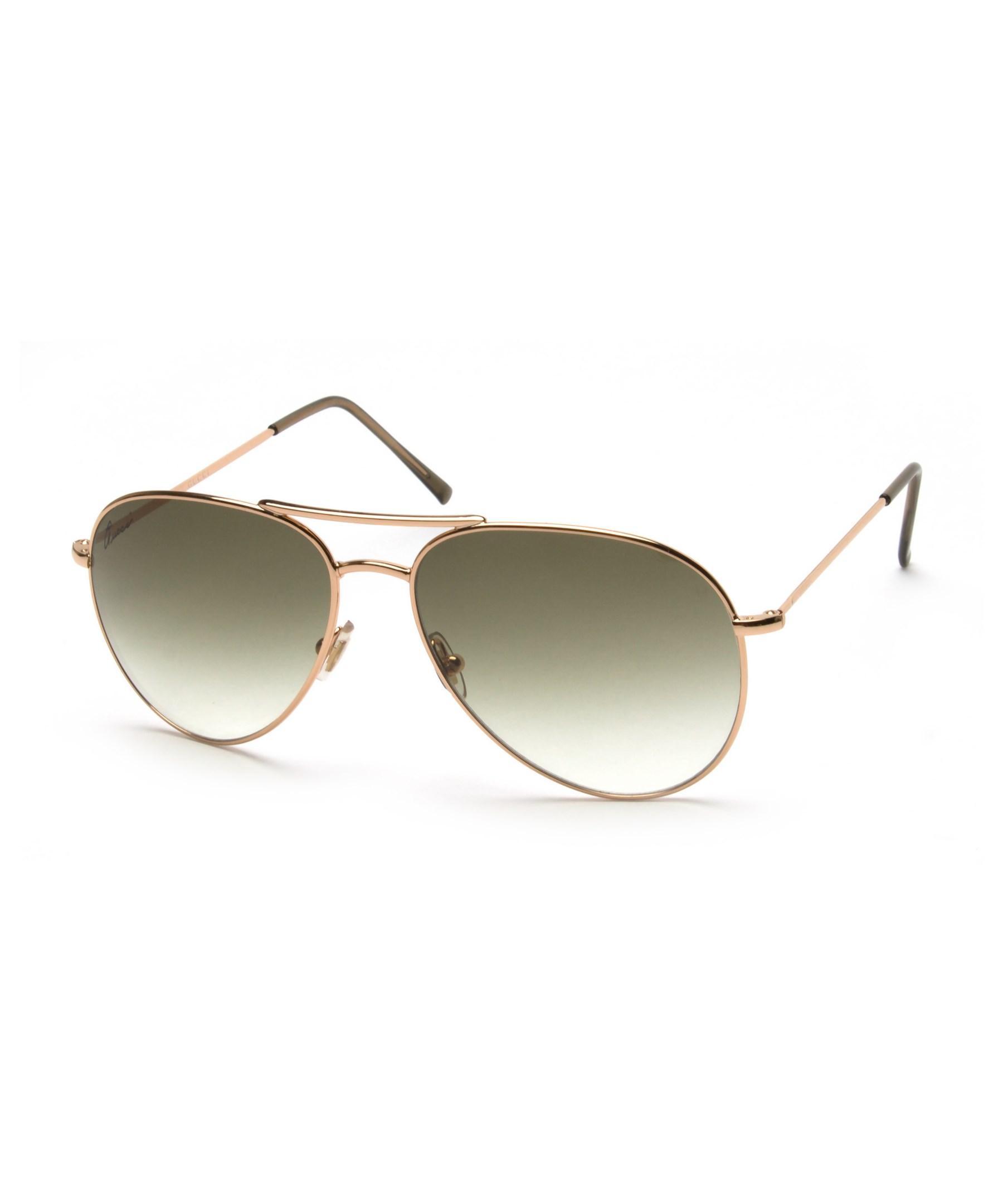 12dd8c903dd5 Lyst - Gucci Men s Women s Unisex Aviator Sunglasses 1287 s Rose ...