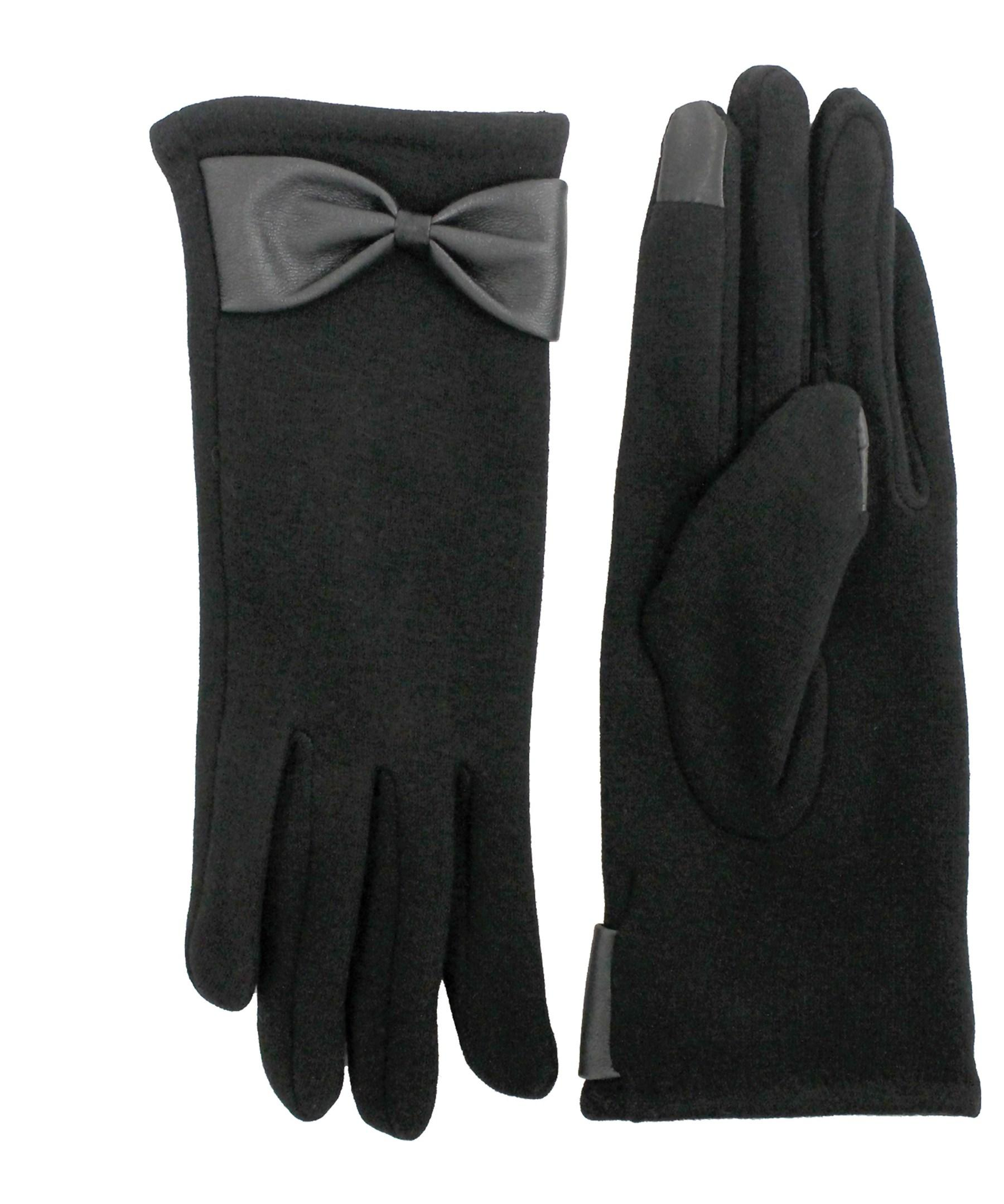 Black gloves with bow - Fits Black Tricot Gloves With Bow Lyst View Fullscreen