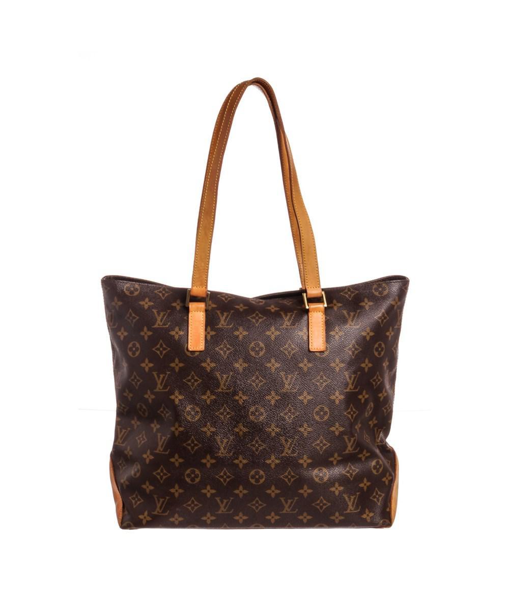 Lyst - Louis Vuitton Monogram Canvas Leather Cabas Mezzo Shoulder ... 3af7b0c1a81a2