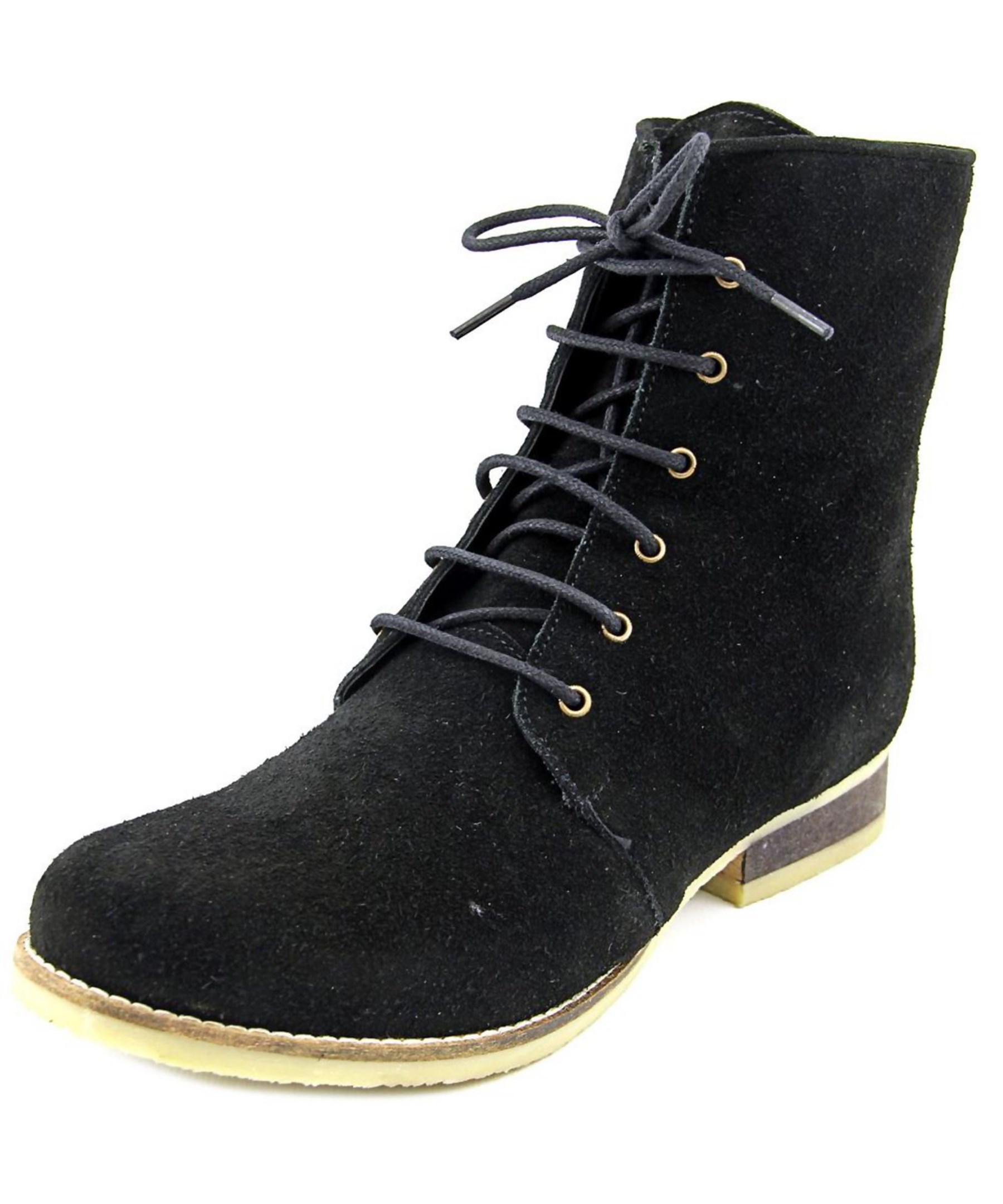 monkey eleanor toe suede boot in black