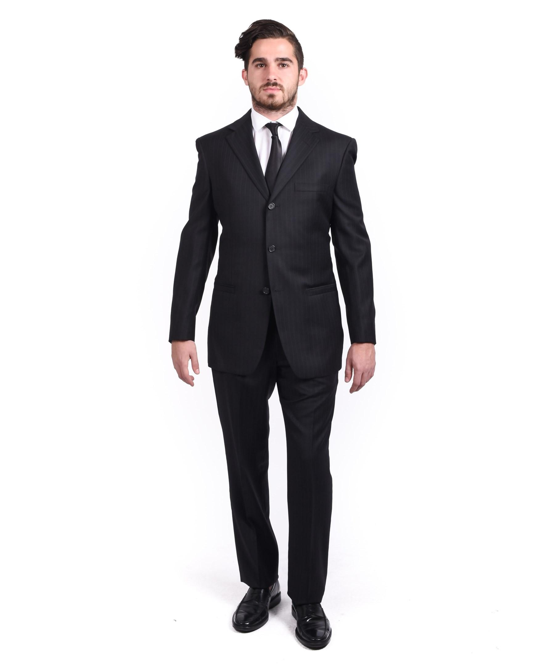 Versace Collection Men's Pinstriped Wool 3-button Suit