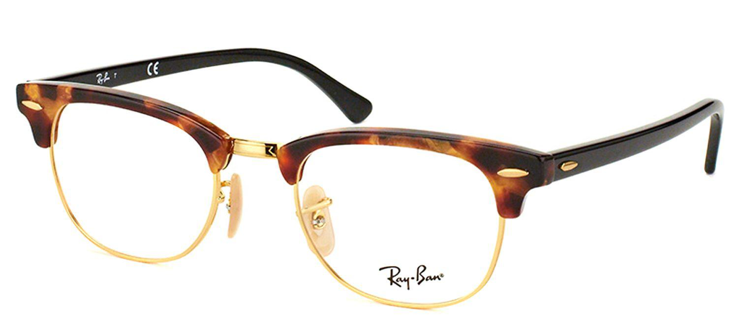 c0b450db9ffc Lyst - Ray-Ban Rx 5154 5494 49mm Brown Square Sunglasses in Brown