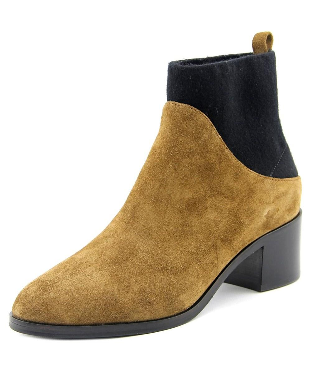 via spiga armel toe suede brown ankle boot in