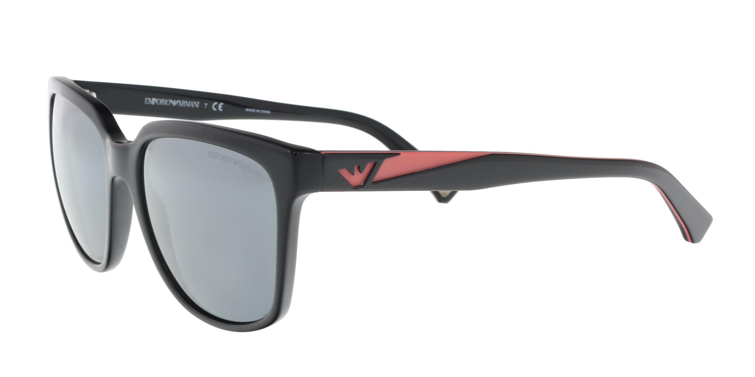 3eecdd0169b Lyst - Emporio Armani Ea4070 50176g Black pink Cat Eye Sunglasses in ...