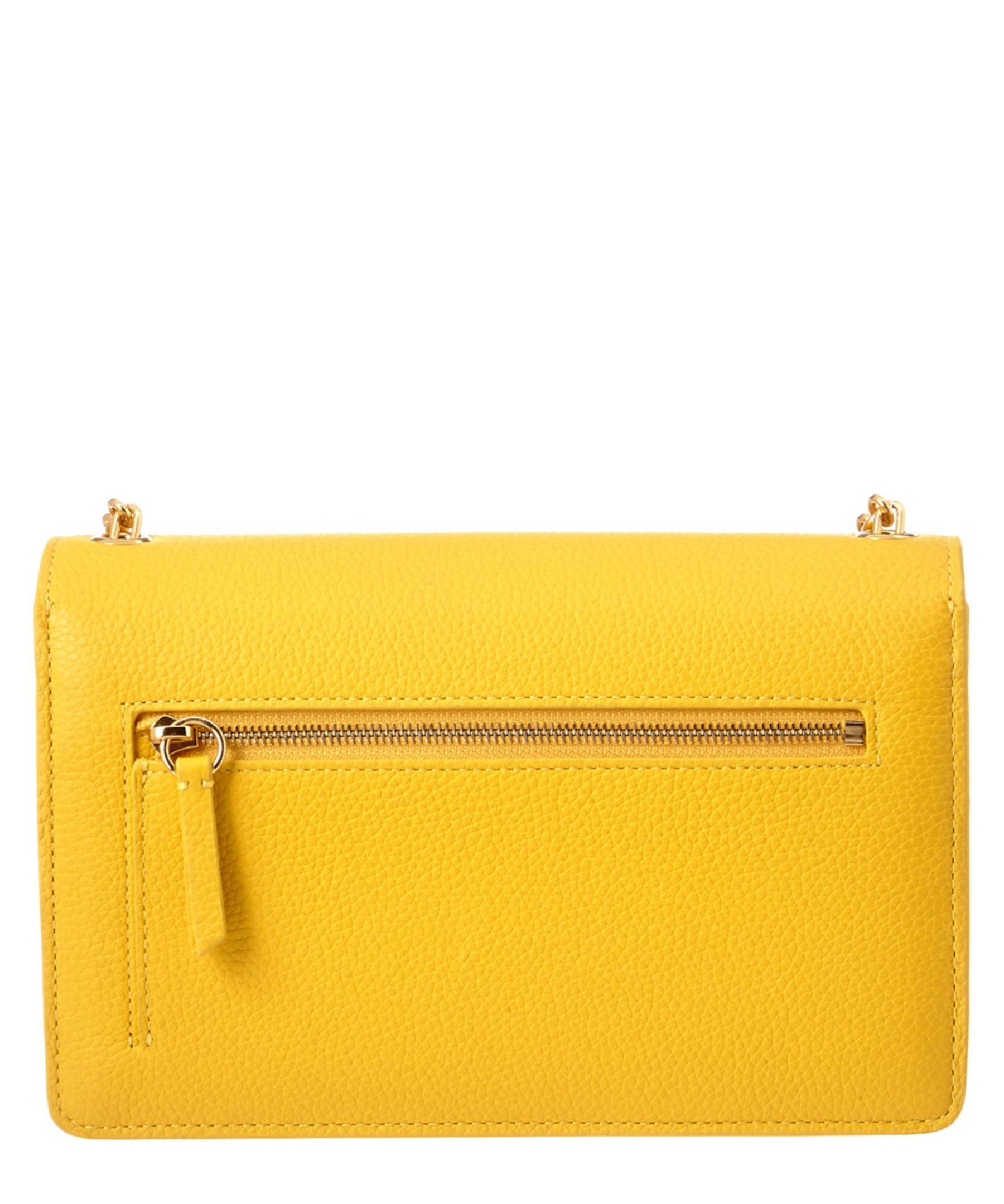 9c22db0497 ... cheap lyst mulberry darley small classic grain leather crossbody in  yellow 26986 eb1ea
