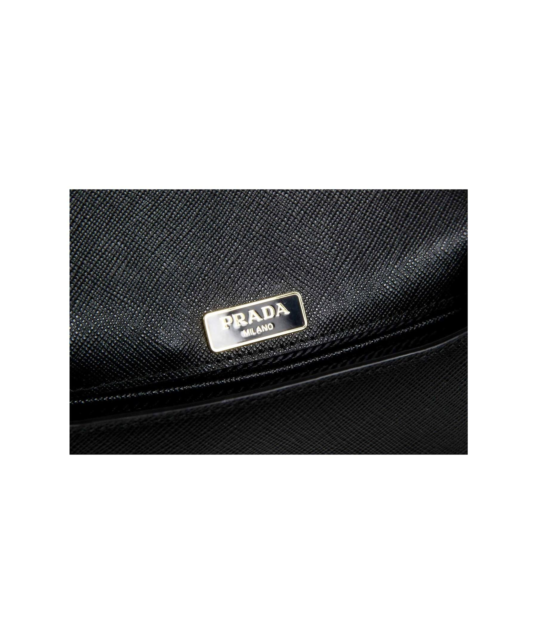 1e0091d01a76 spain lyst prada ladies 1bh015 bandolero saffiano handbag in black 16555  b5573