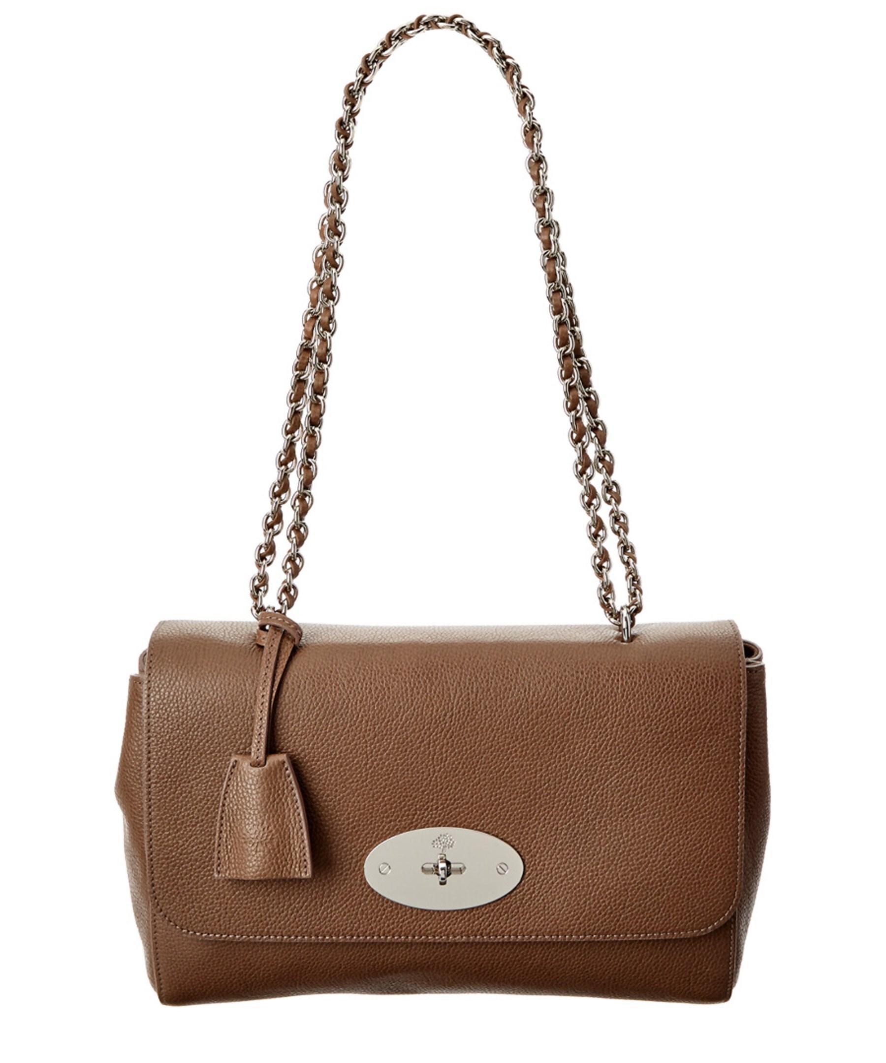 ... sale lyst mulberry medium lily classic grain leather shoulder bag in  brown c65d4 a1e0e c2762dd7bba4f