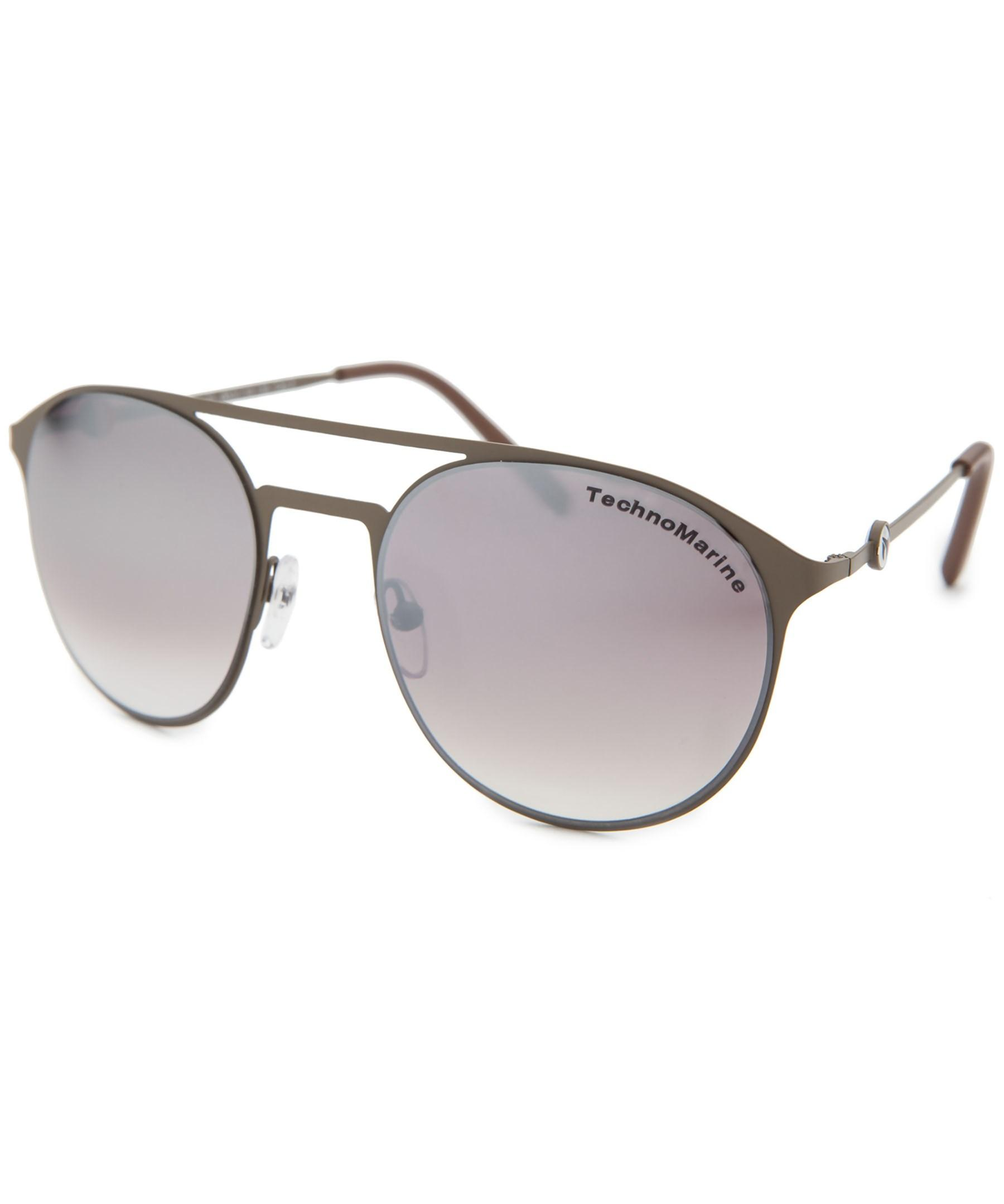 technomarine cruise medusa aviator brown sunglasses in