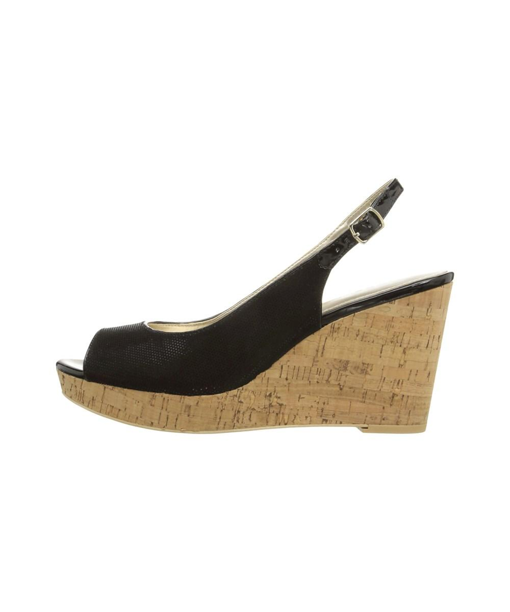 9b8acbc60326ba Lyst - Bandolino Women s Avito Wedge Sandal in Black