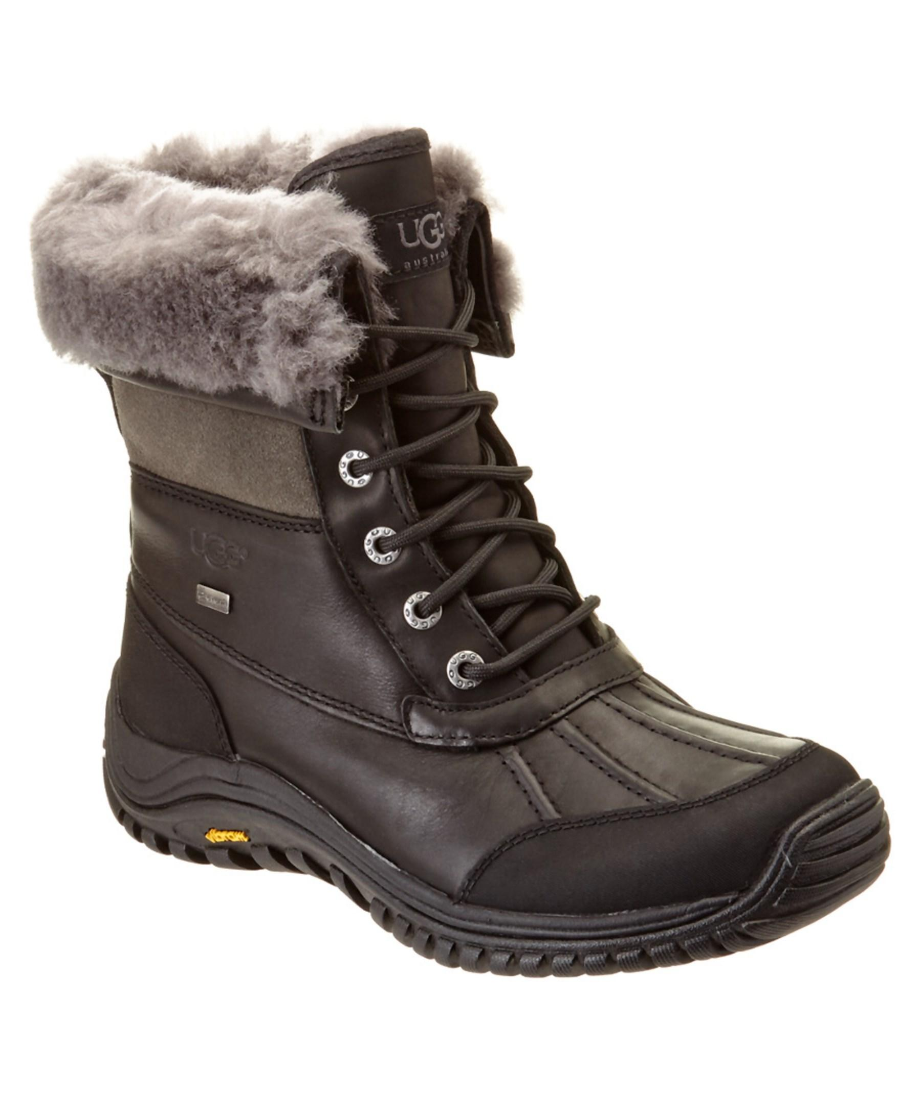 ugg s adirondack waterproof leather boot in black lyst