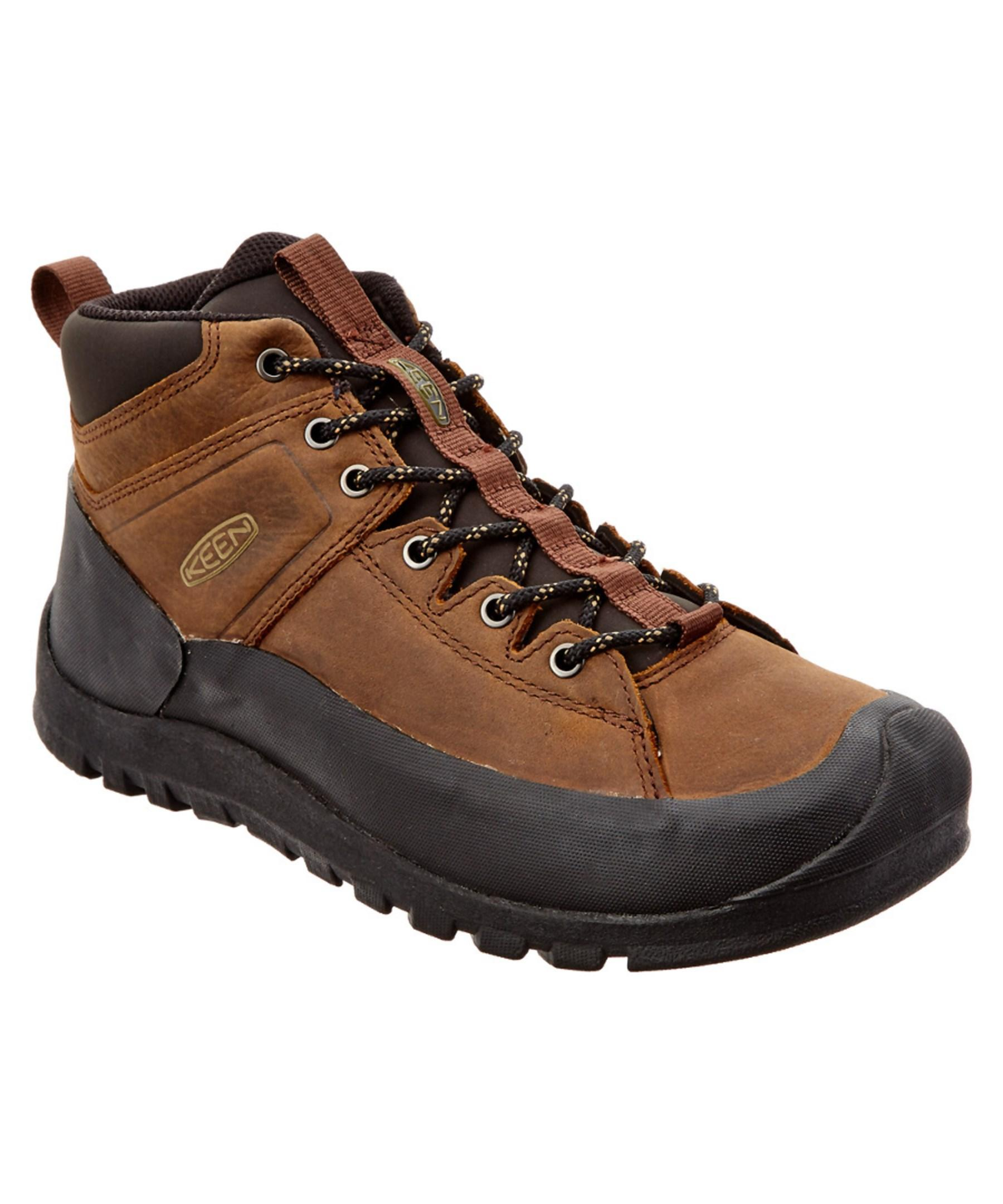 keen s citizen leather mid boot in brown for lyst