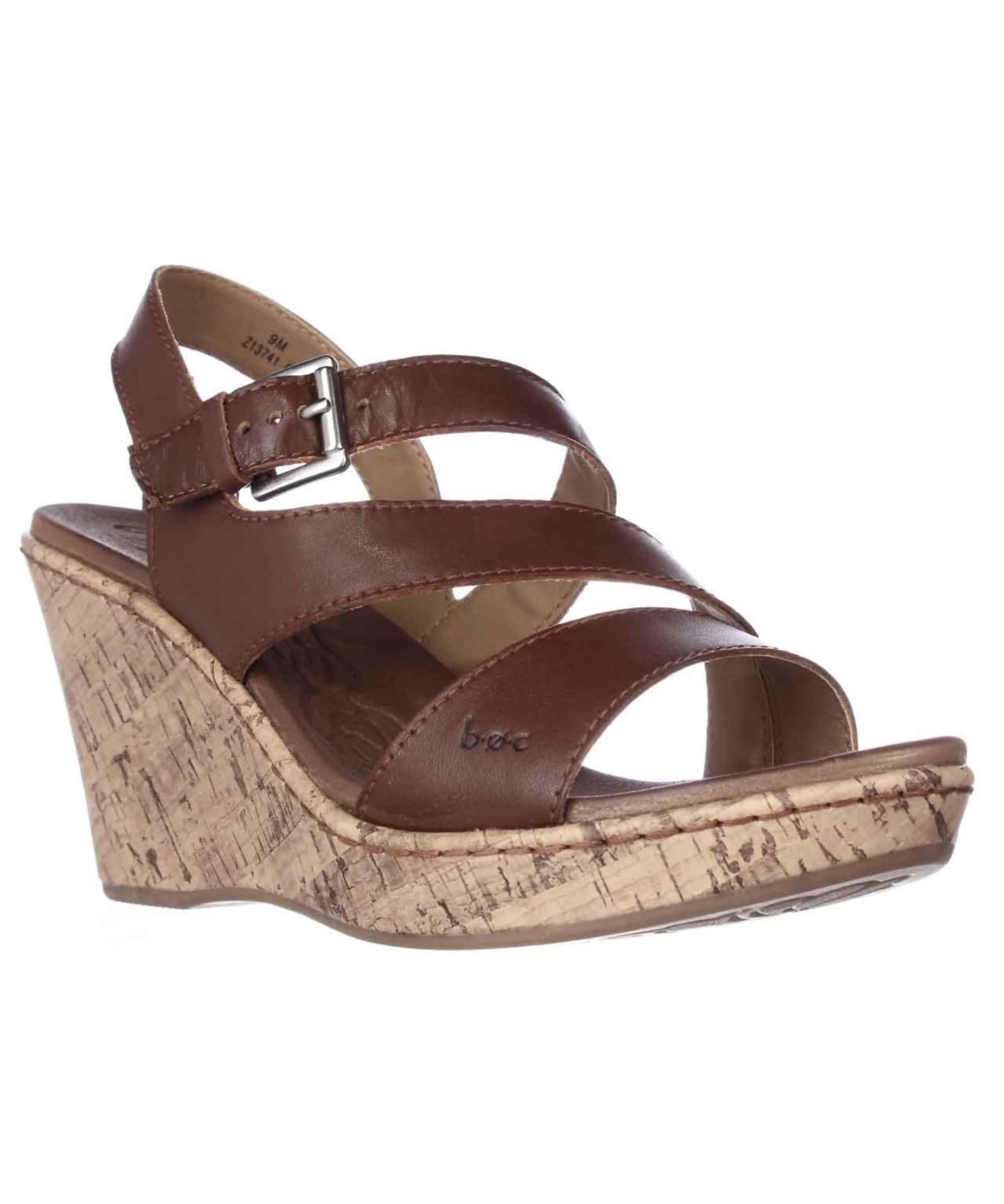 born schirra wedge sandals in brown lyst