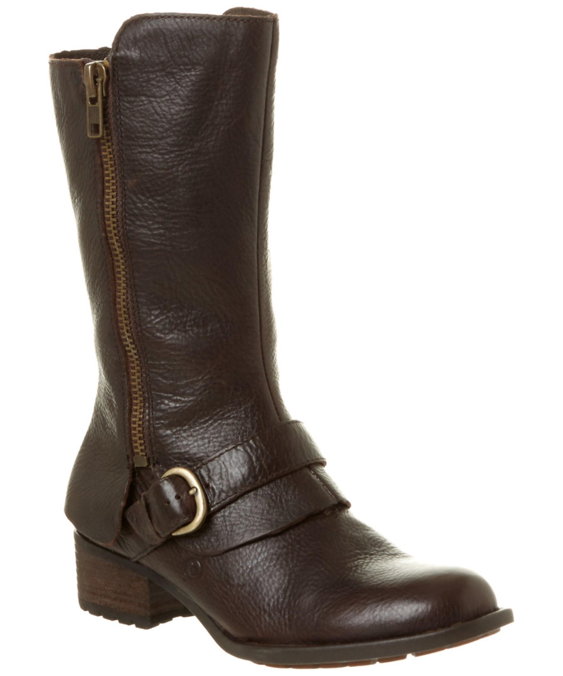 born aubra leather boot in brown lyst