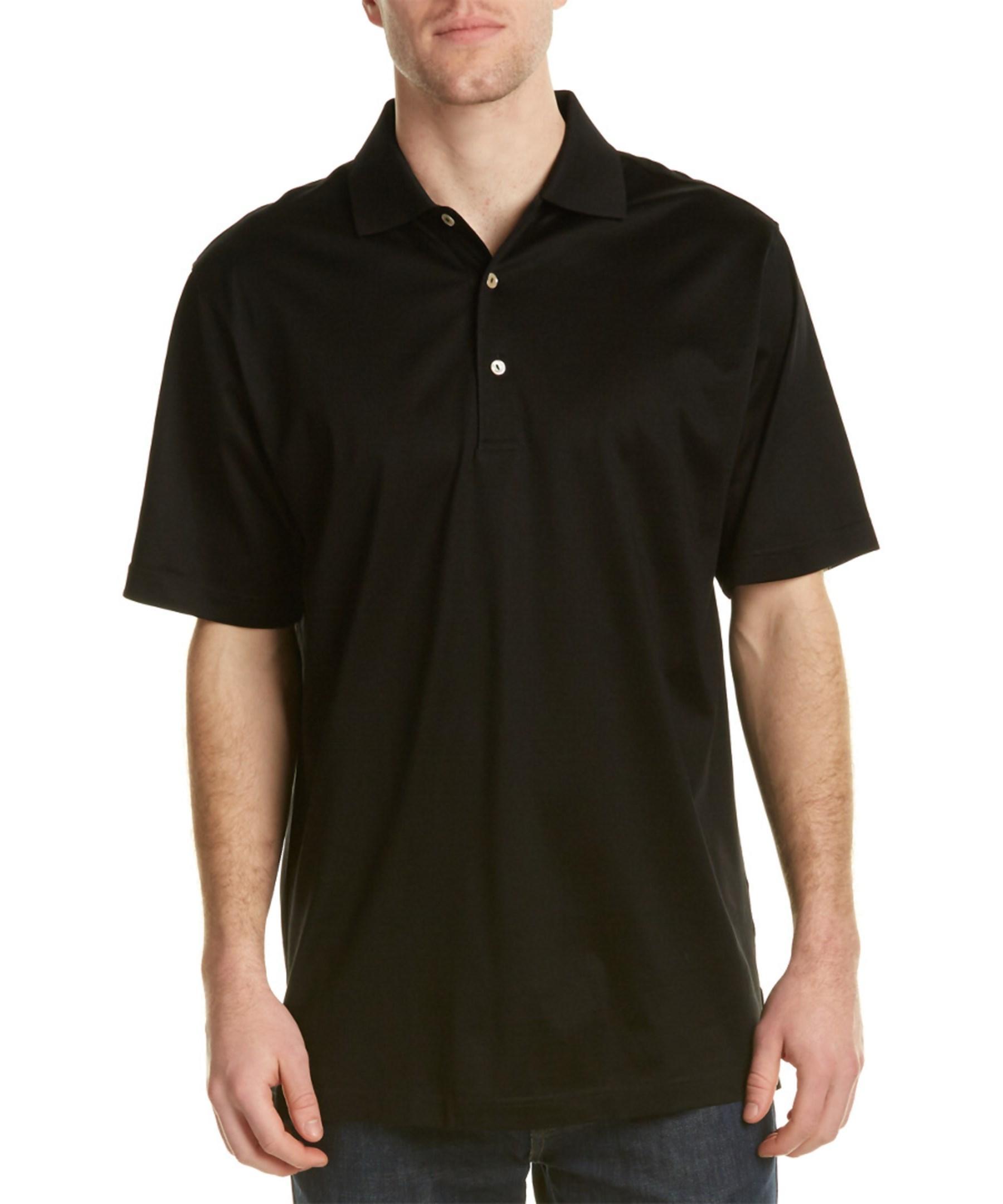 Peter millar lisle polo shirt in black for men lyst for Peter millar polo shirts
