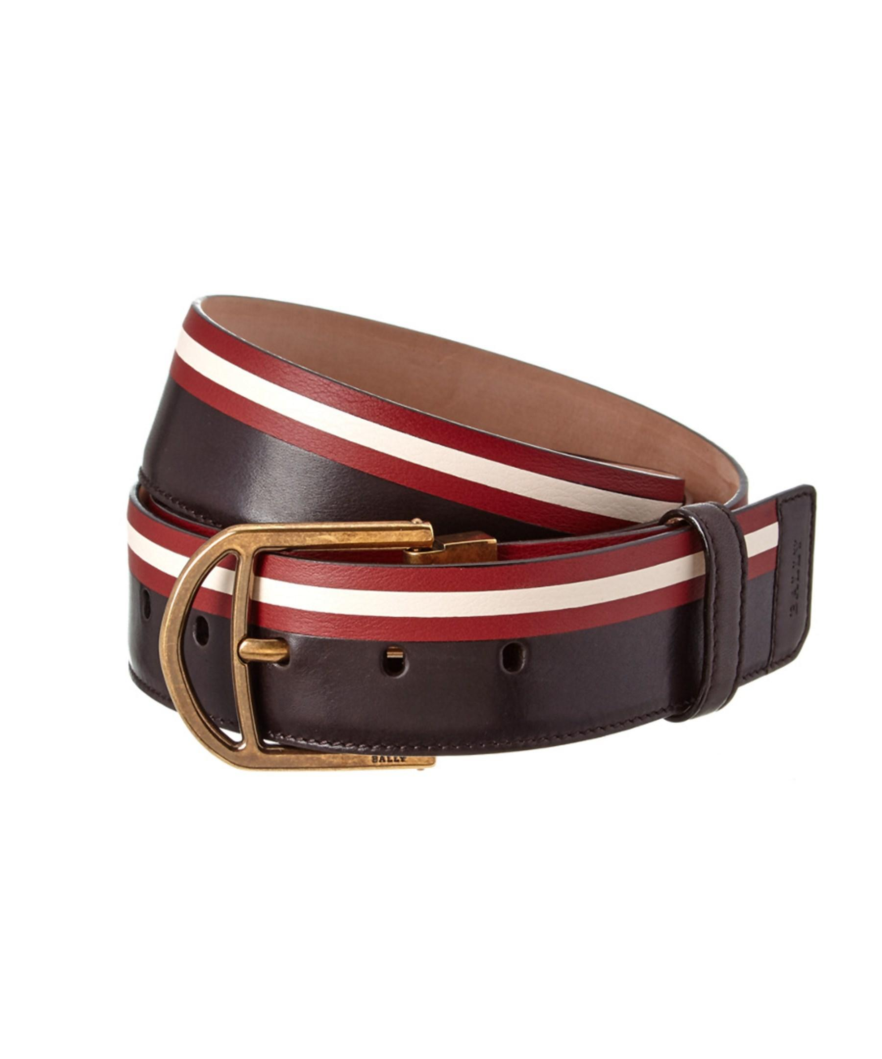 bally clinn adjustable leather belt in brown for lyst