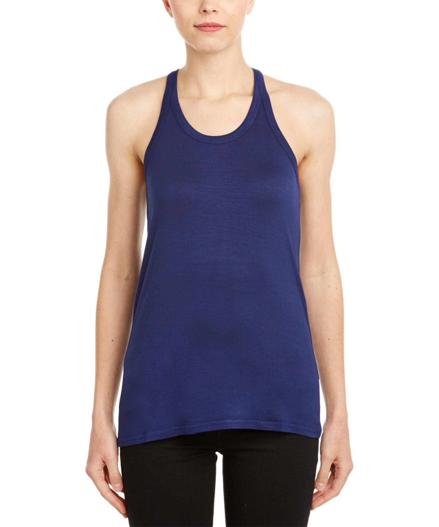 Macbeth Collection Racerback Tank Top In Blue Lyst