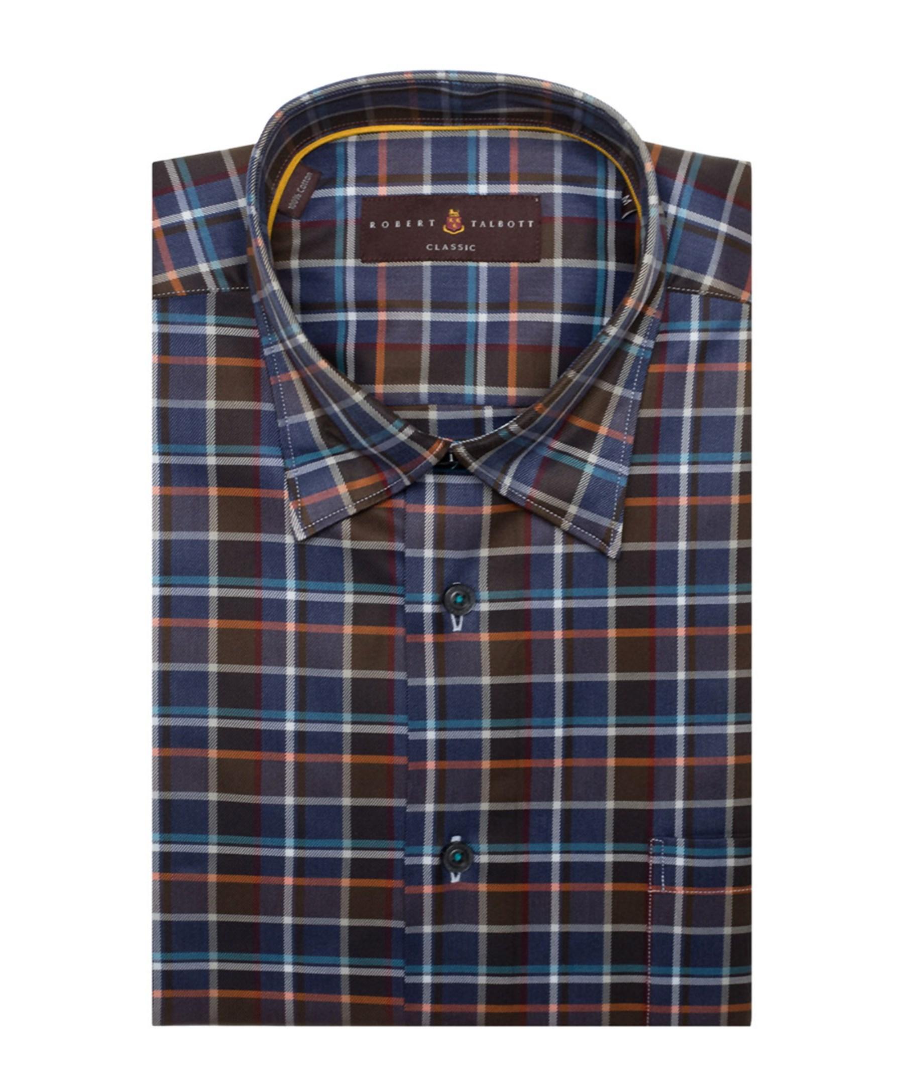 Robert talbott anderson ii classic fit woven shirt in blue for Robert talbott shirts sale