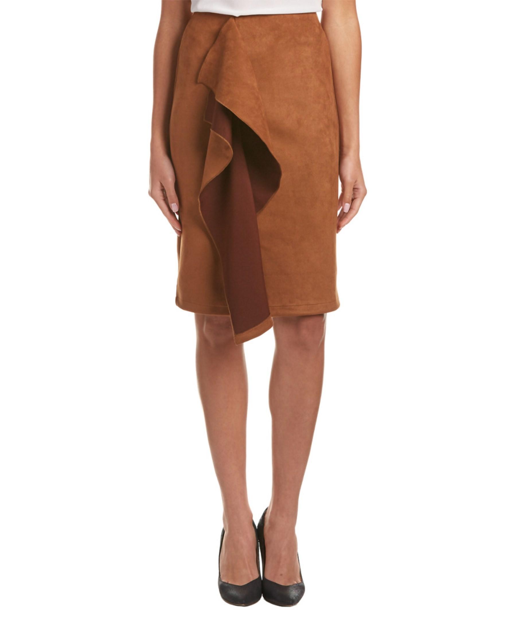 gracia pencil skirt in brown lyst