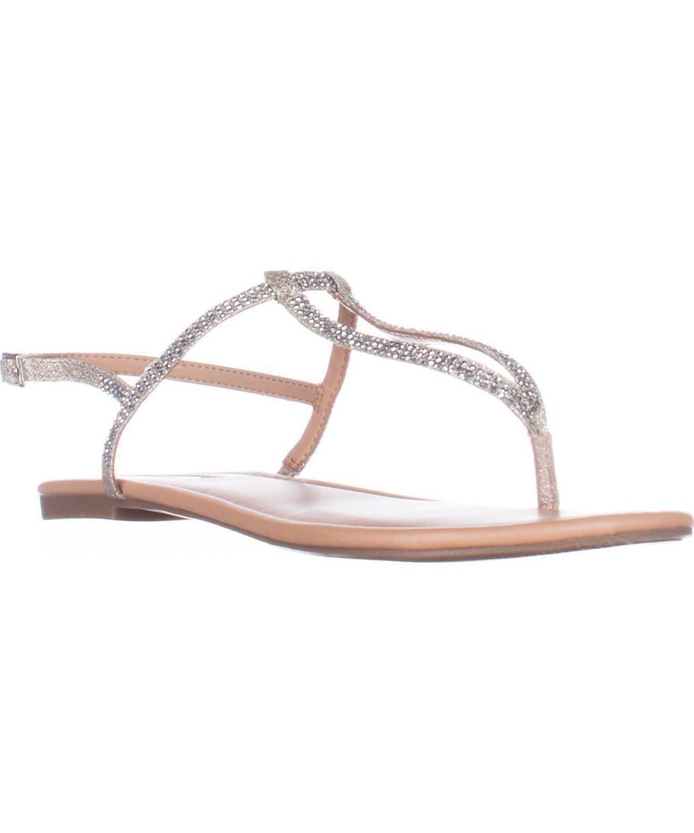da6902a0ccd5cf INC International Concepts. Women s Metallic I35 Macawi2 Flat Thong Sandals  ...