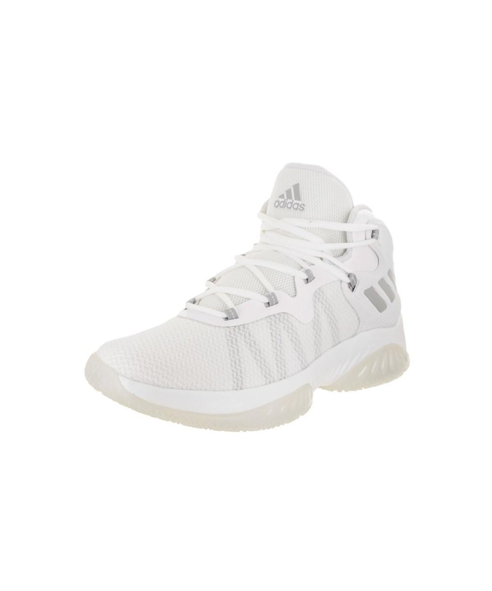 6145d0c51a865 Adidas - White Men s Explosive Bounce Basketball Shoe for Men - Lyst. View  fullscreen
