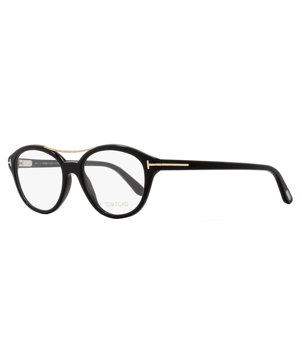 82833ca0b30 Lyst - Tom Ford Oval Eyeglasses Tf5412 001 Size  52mm Black gold ...