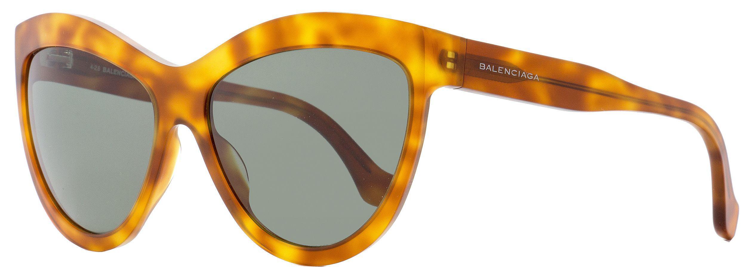 ed74155afc78 Lyst - Balenciaga Cateye Sunglasses Ba90 53n Blonde Havana 60mm ...