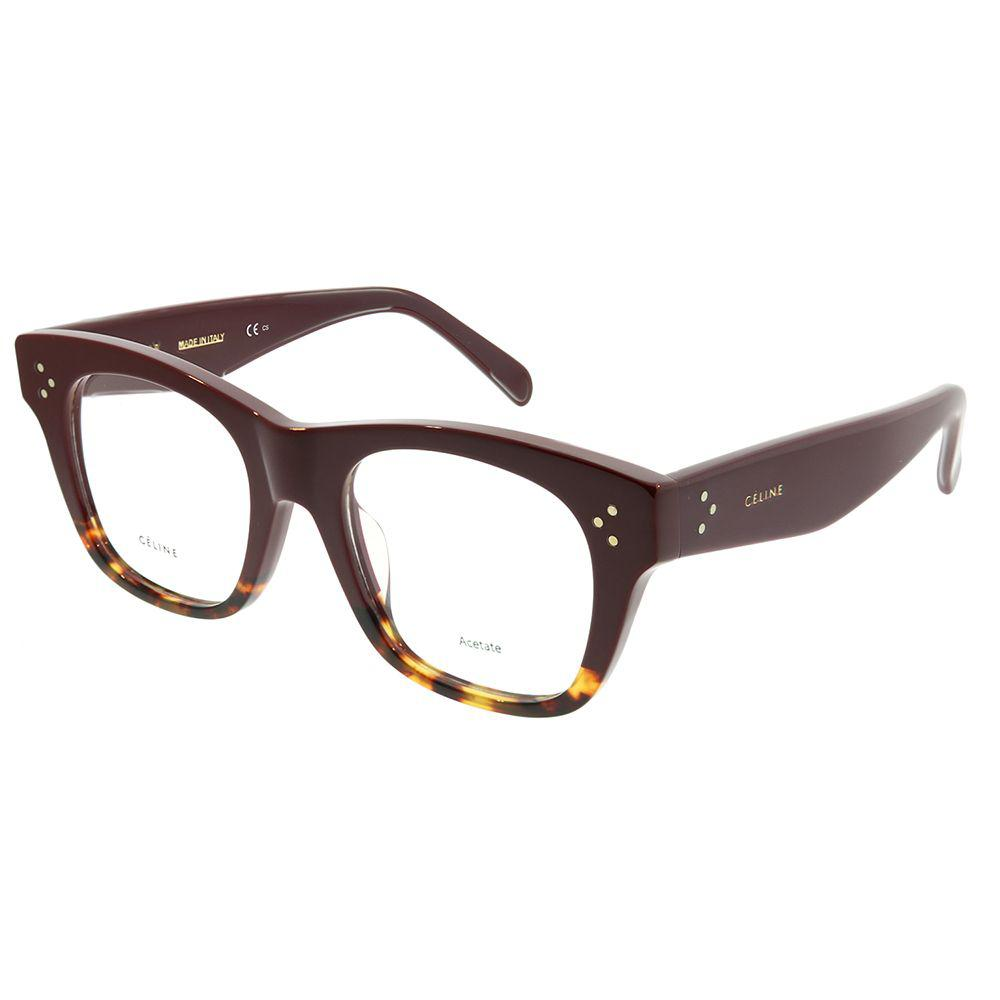 446a7477b5 Céline. Women s Brown Cathrine Small Asian Fit Cl 41367 f Aev Burgundy  Havana Square Eyeglasses