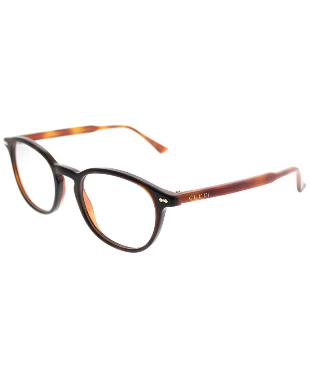 2d59e34188 Gucci - Brown Gg0187o 008 Havana Square Eyeglasses - Lyst. View fullscreen