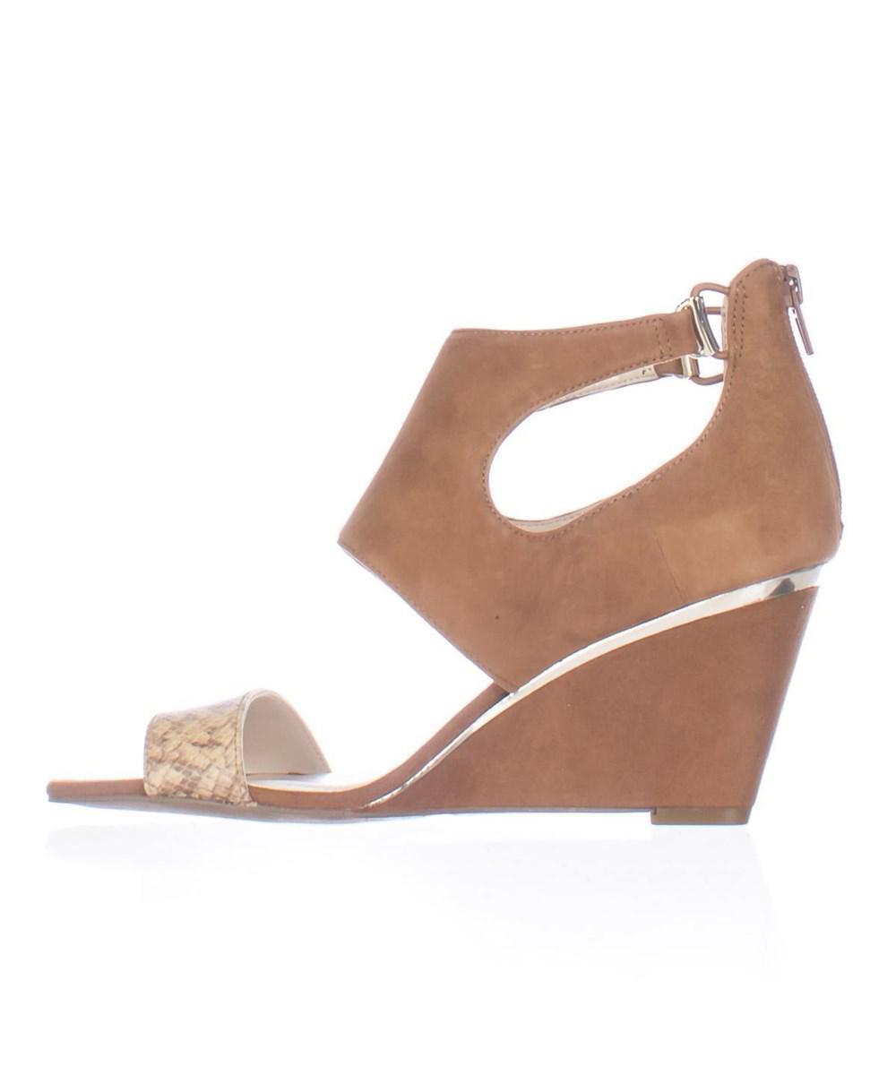 161204579aca Alfani - Brown Womens Giah Leather Open Toe Casual Platform Sandals - Lyst.  View fullscreen