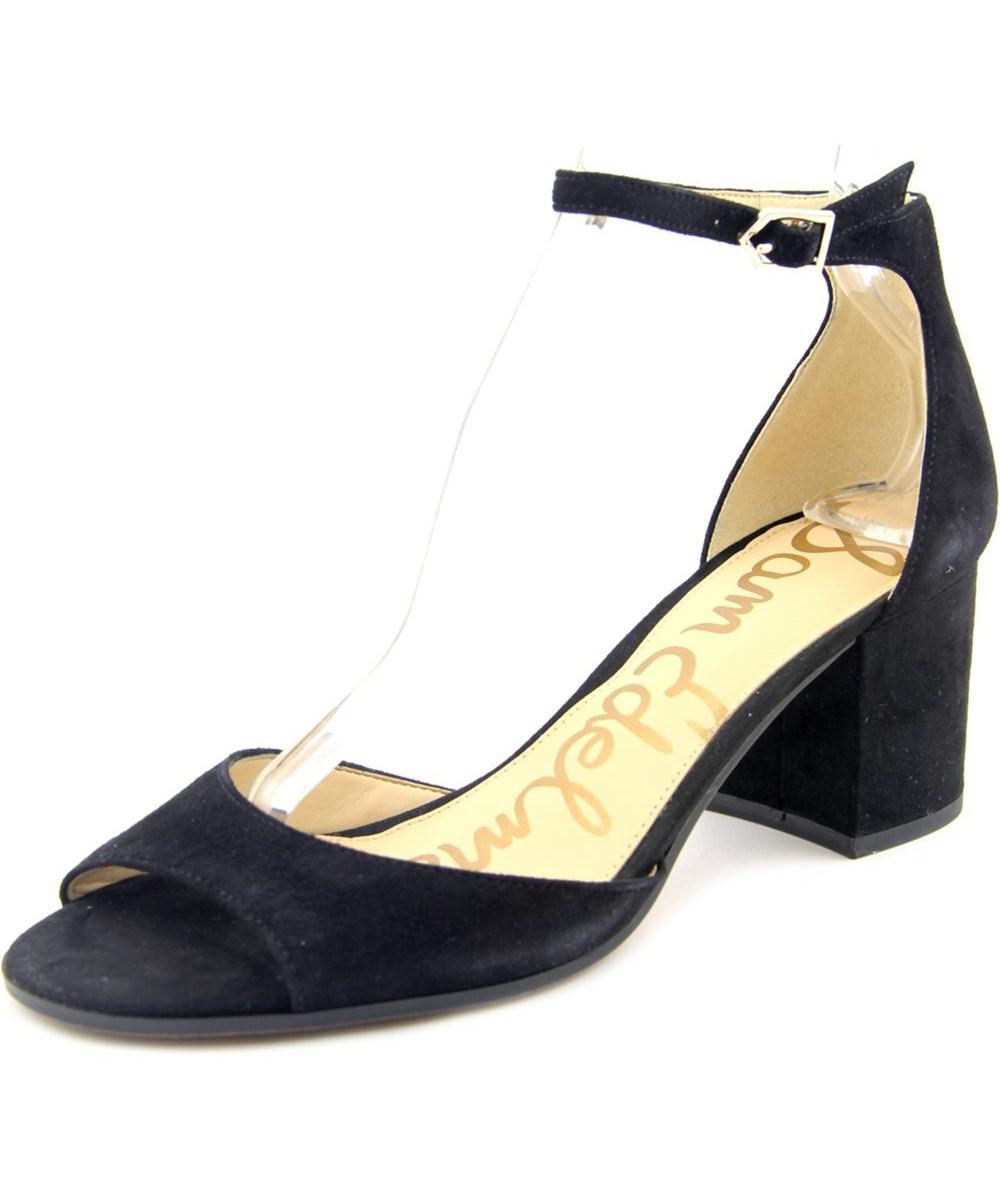 4803eba7a70f1c Lyst - Sam Edelman Susie Women Open Toe Suede Black Sandals in Black
