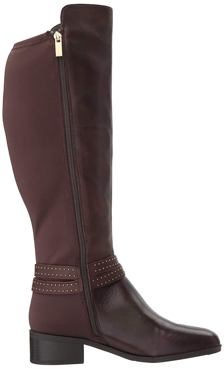 386580f4822 Bandolino - Brown Womens Bryices Wide Calf Leather Almond Toe Knee High  Fashion Boots - Lyst. View fullscreen
