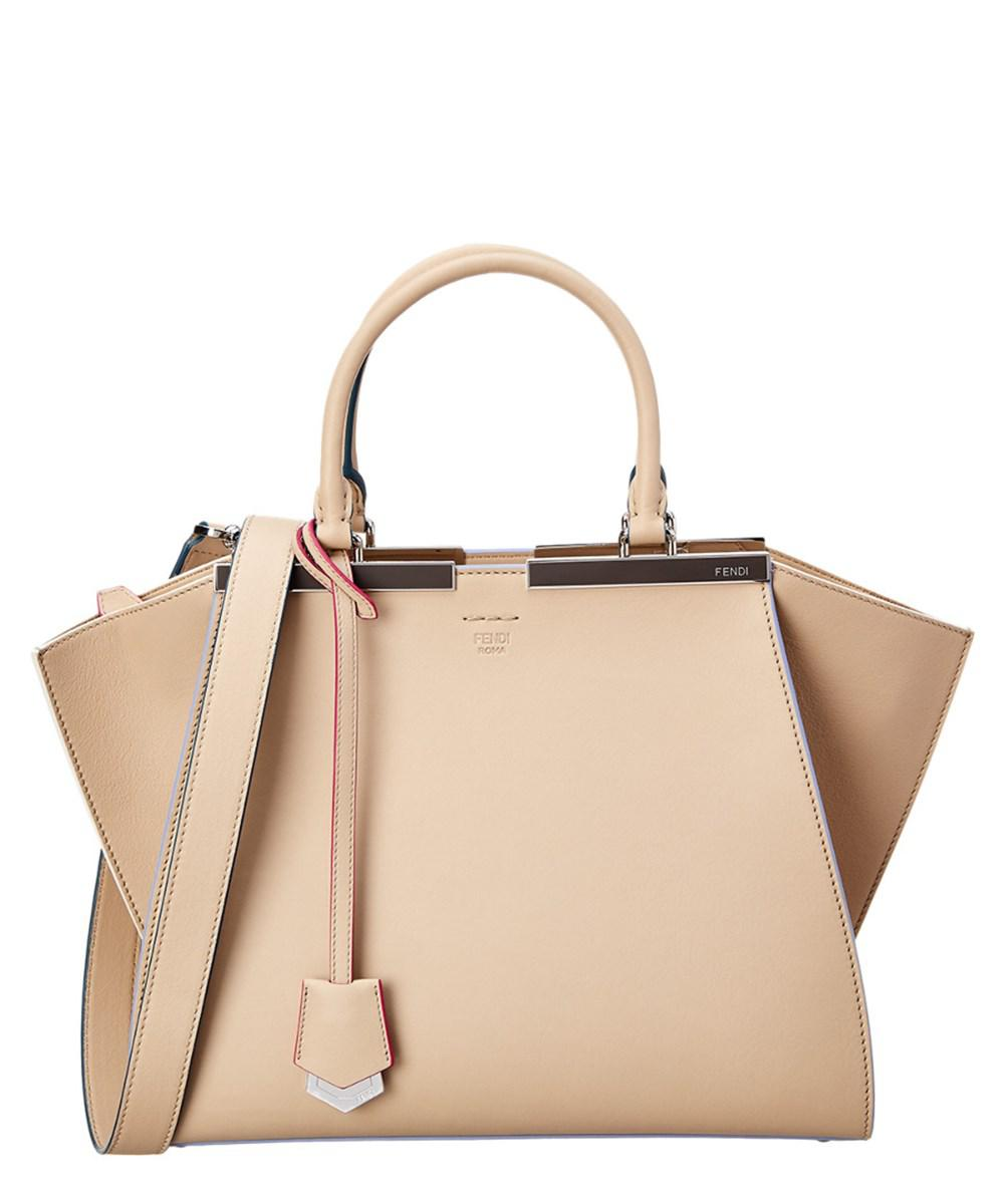 Lyst - Fendi Medium 3jours Leather Tote in Natural 485d402889bae