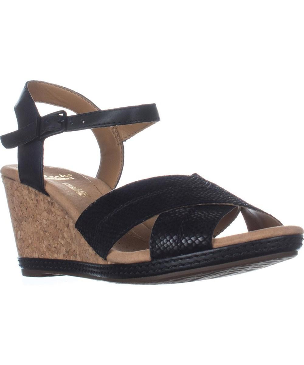 e51f38e4fa0 Lyst - Clarks Helio Latitude Comfort Wedge Sandals
