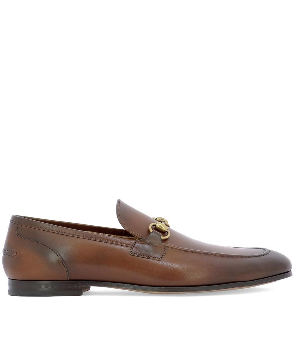 0e1cbc22ac6 Lyst - Gucci Men s 406994blm002535 Brown Leather Loafers in Brown ...