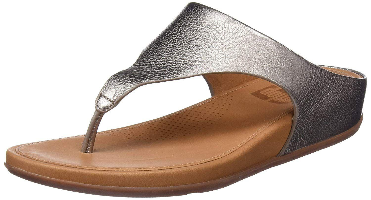 15a38ac511b0 Lyst - Fitflop Womens Banda Leather Toe-thong Thong Sandal in Metallic