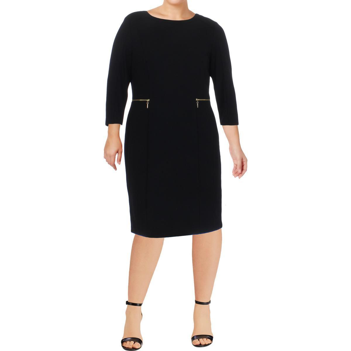 0bb3b4ceb1 Lyst - Nine West Womens Ponte Knit 3 4 Sleeves Wear To Work Dress in ...