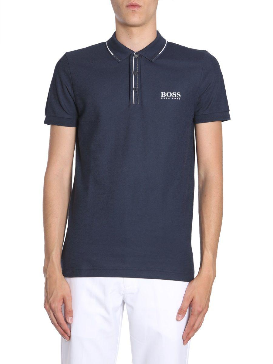 a5b63bd5f BOSS - Men's Blue Cotton Polo Shirt for Men - Lyst. View fullscreen