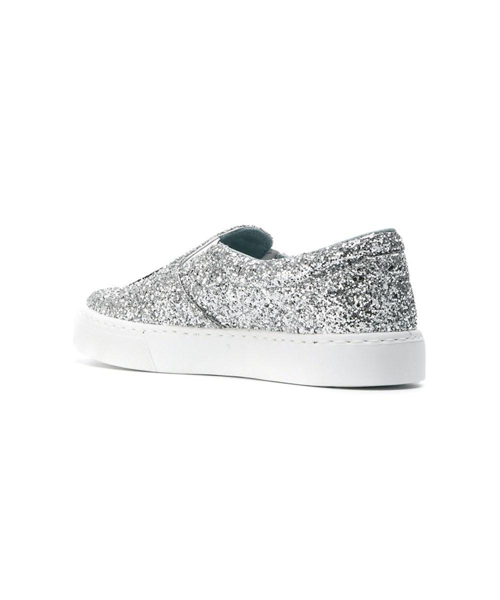 Chiara Ferragni Damen Cf1897 Silber PVC Slip On Sneakers YPaXmjbI4i