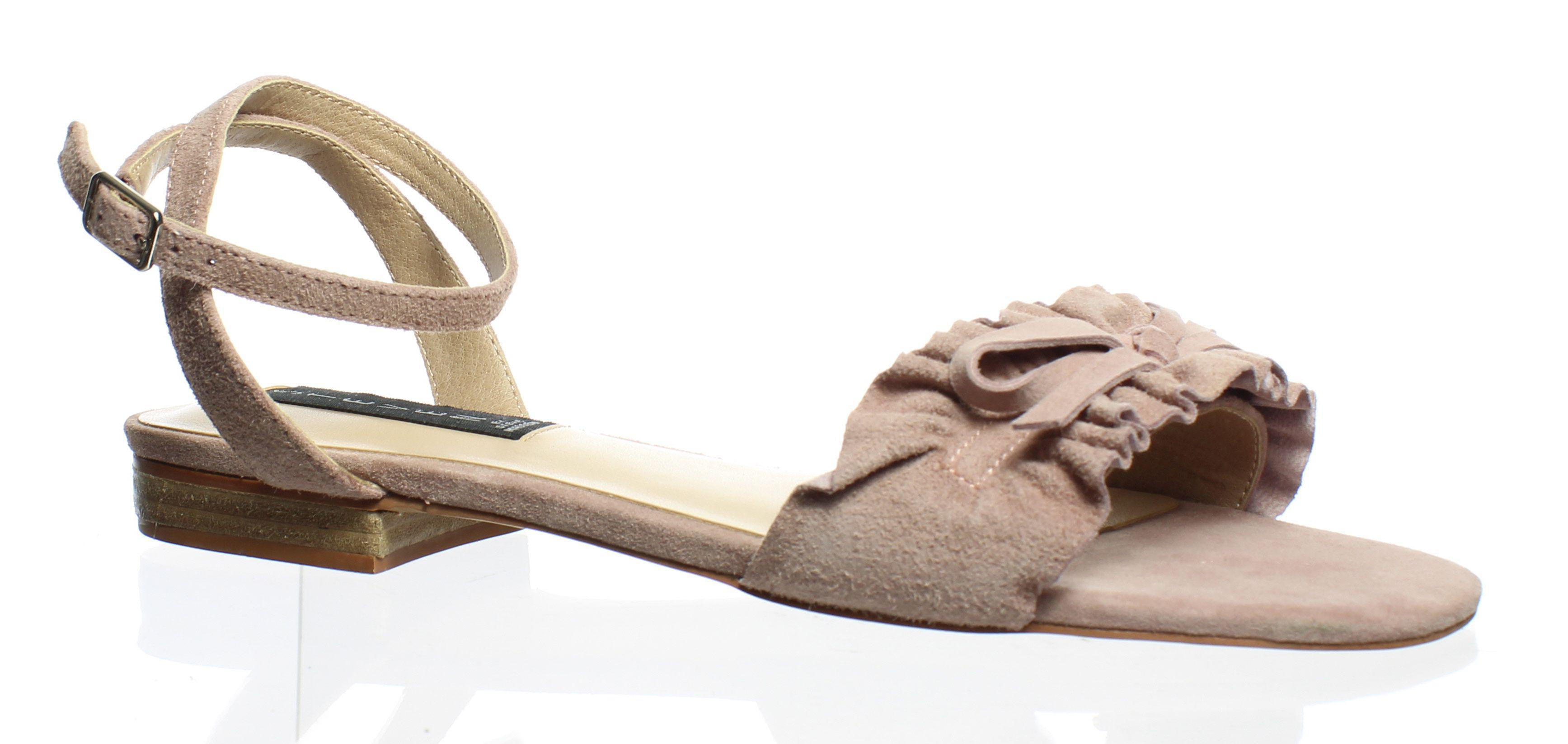 aa9ee81743a Lyst - Steve Madden Womens Cassiel Blush Suede Ankle Strap Heels