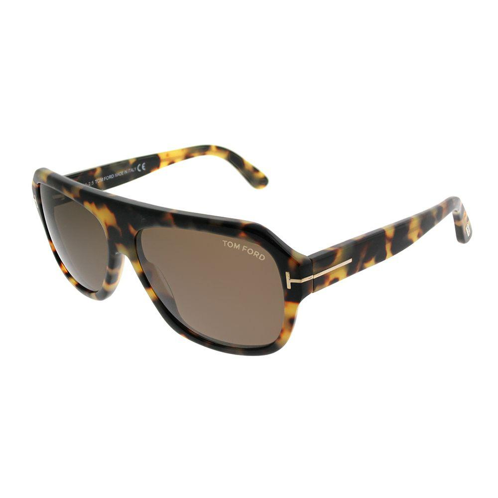 83e32af4e1 Tom Ford - Multicolor Omar Tf 465 56j 59mm Havana Square Sunglasses - Lyst.  View fullscreen