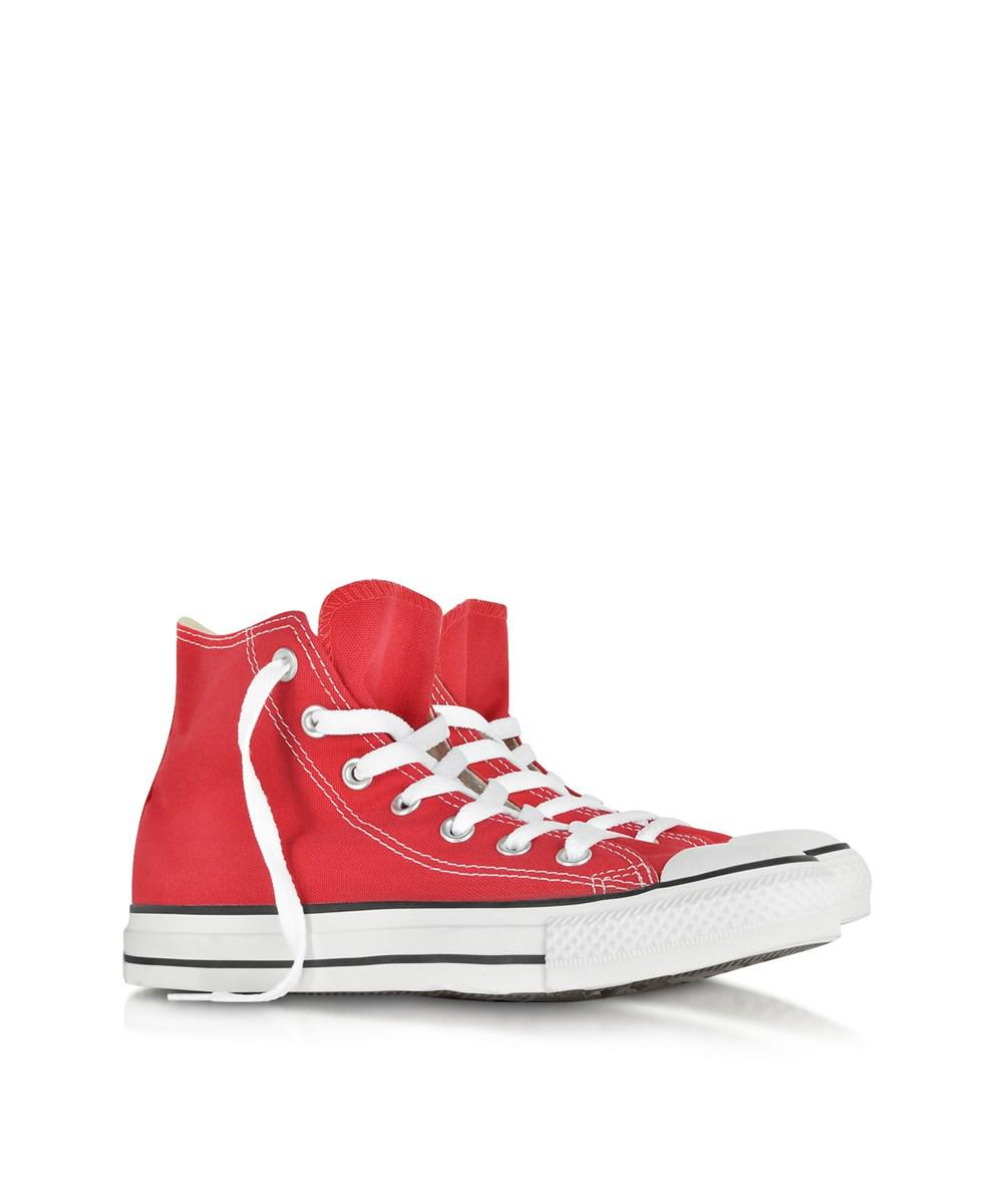 8ad69bcbc9e6 Lyst - Converse All Star Red Canvas High Top Sneaker in Red for Men - Save  64.67391304347825%