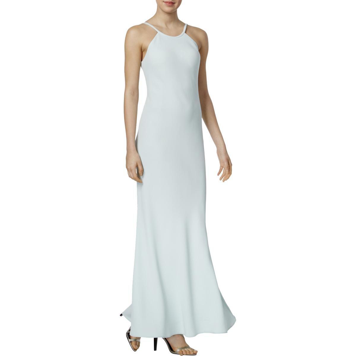 Lyst Calvin Klein Womens Scoop Neck Spaghetti Straps Evening Dress