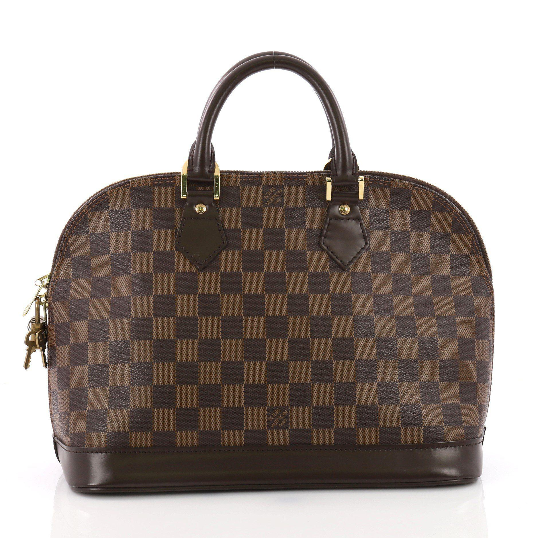 8eb6e0db5c04 Louis Vuitton - Brown Pre Owned Alma Handbag Damier Pm - Lyst. View  fullscreen