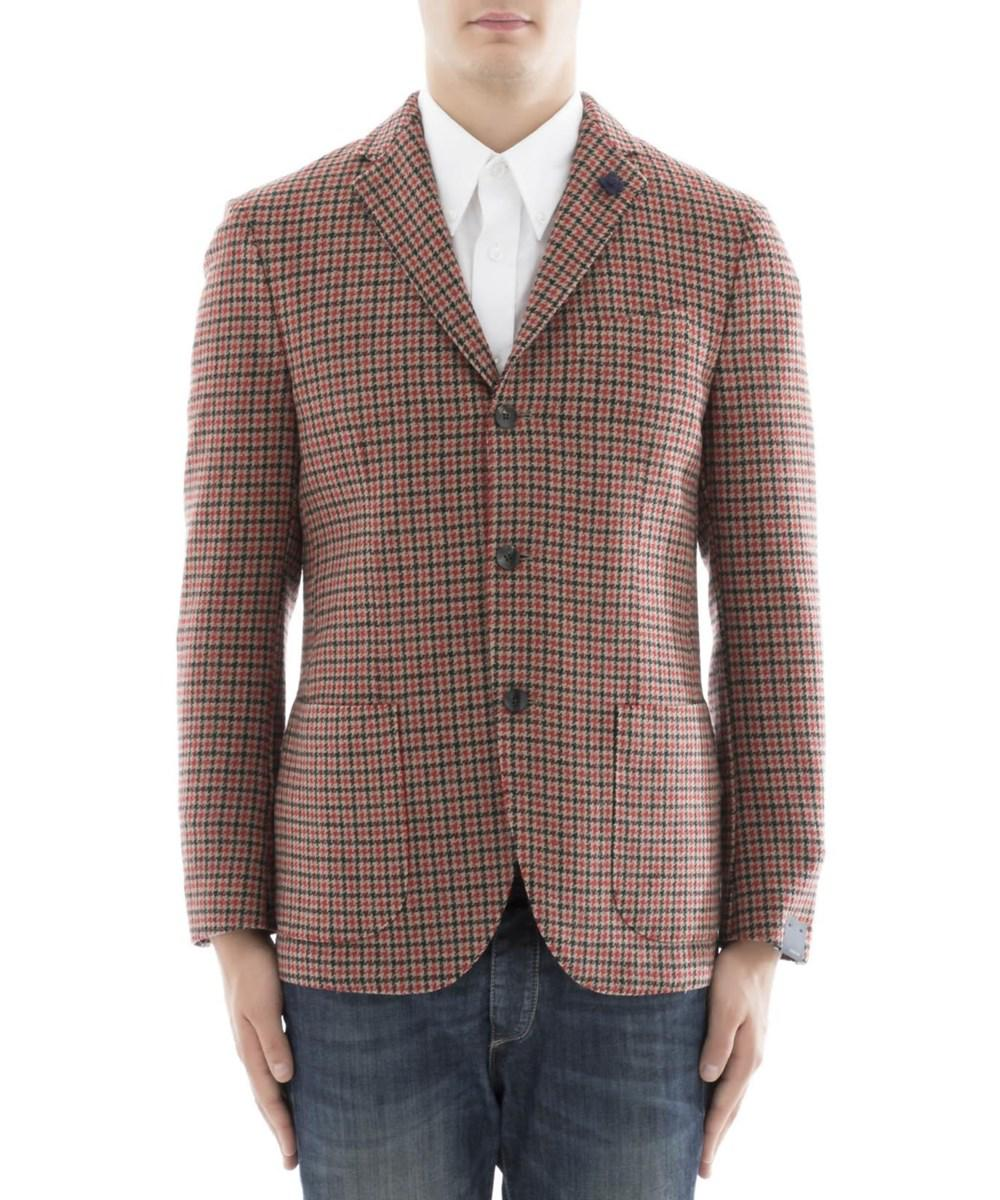 Lardini. Brown Men's Multicolor Wool Blazer
