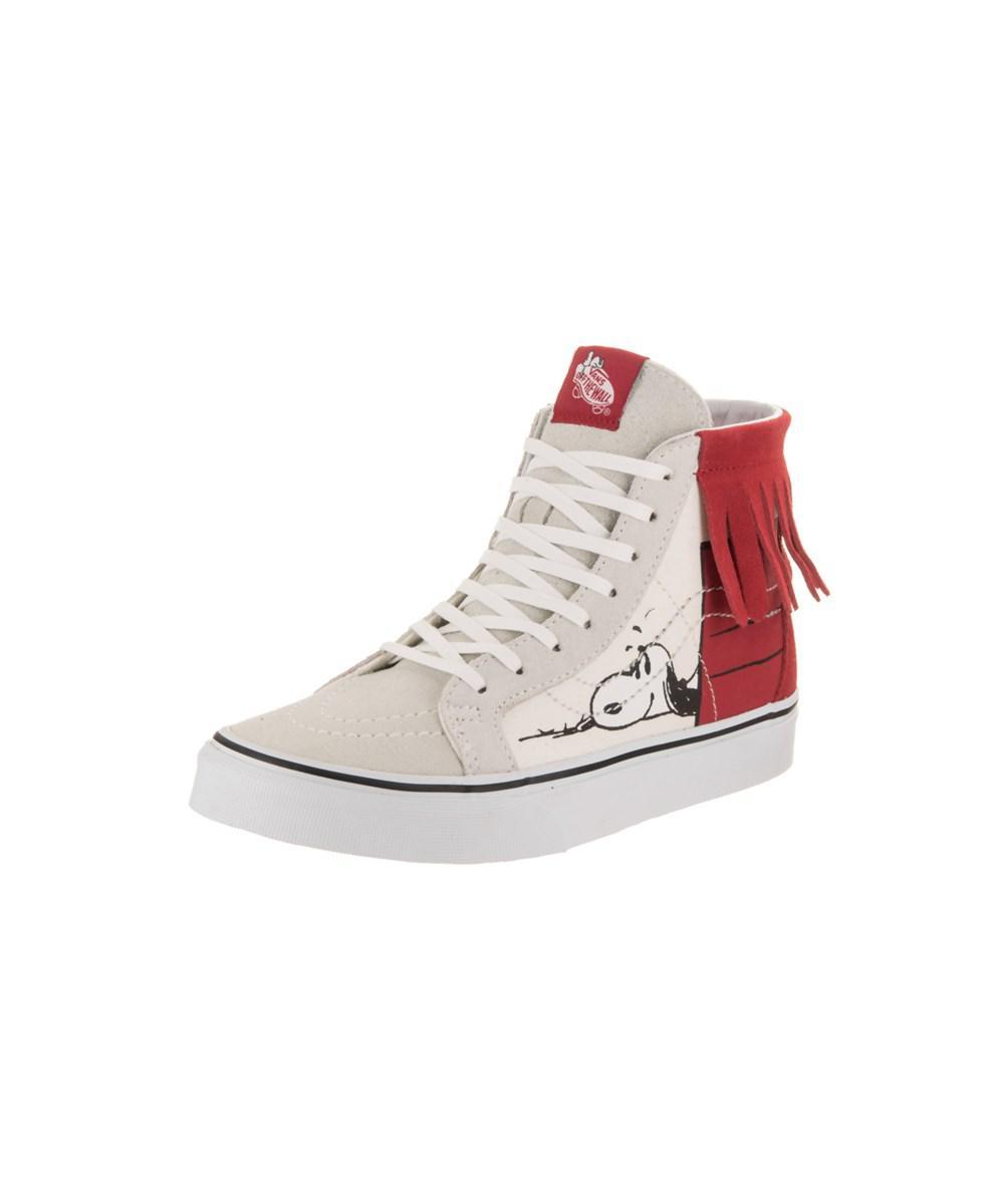 8a4a8784b9 Lyst - Vans Unisex Sk8-hi Moc (peanuts) Skate Shoe in White