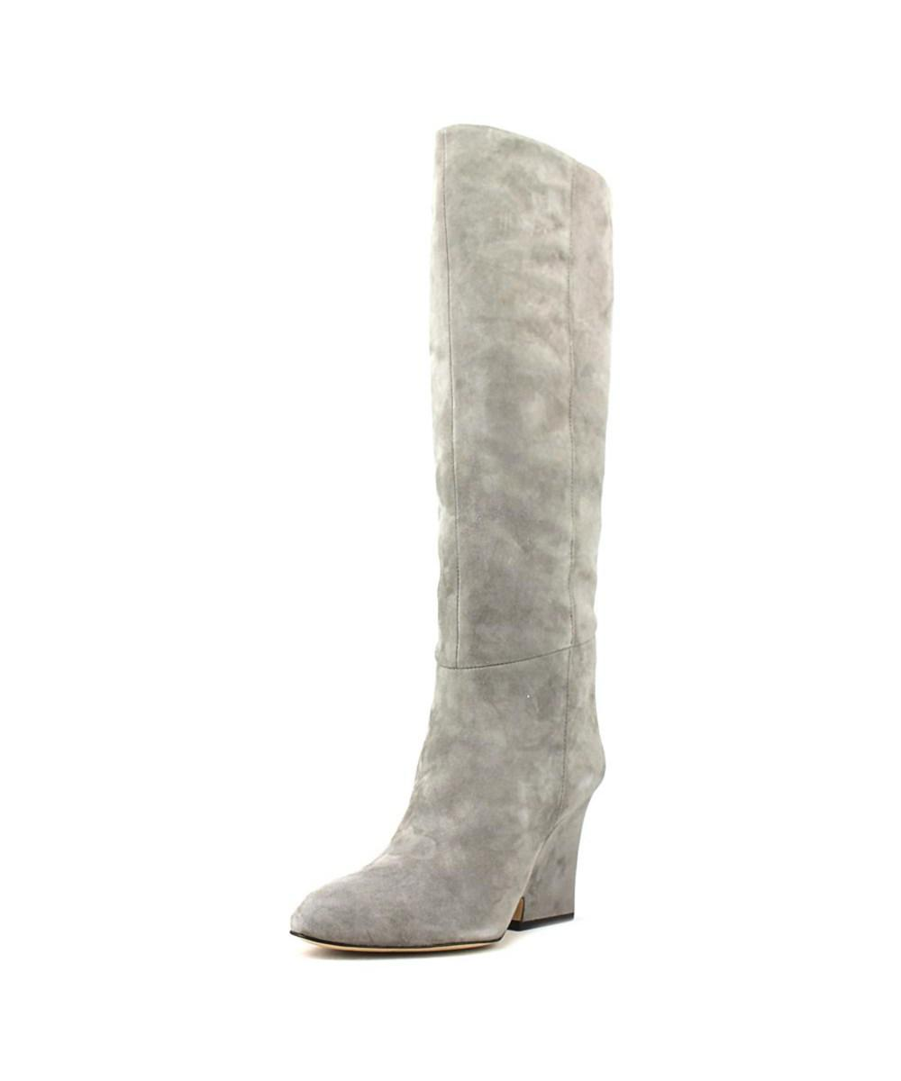 07402eb54 Lyst - Sam Edelman Whitney Round Toe Suede Knee High Boot in Gray