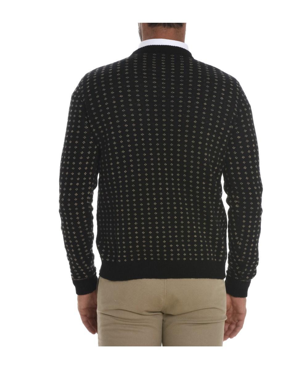 Roberto collina Men's Black Cashmere Sweater in Black for Men | Lyst